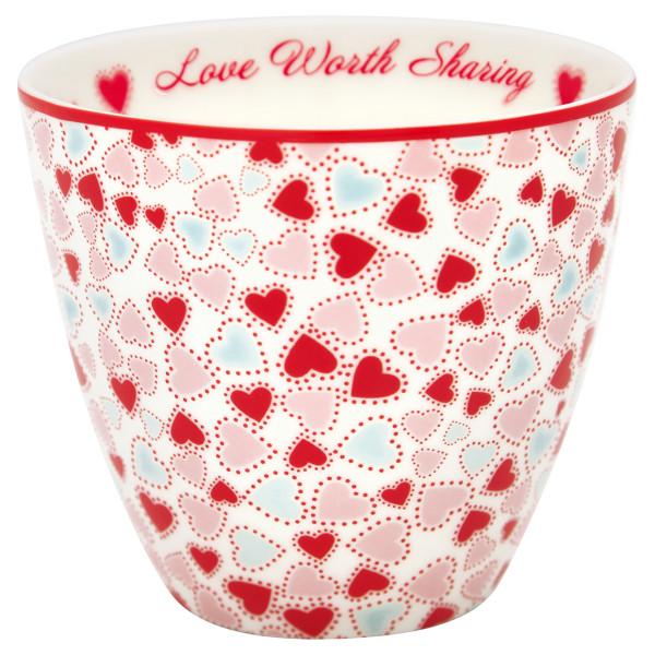 Latte Cup Love White von GreenGate