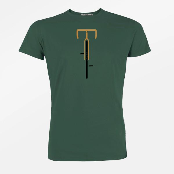 T-Shirt Herren Guide Bike Runs Bottle Green M von Greenbomb