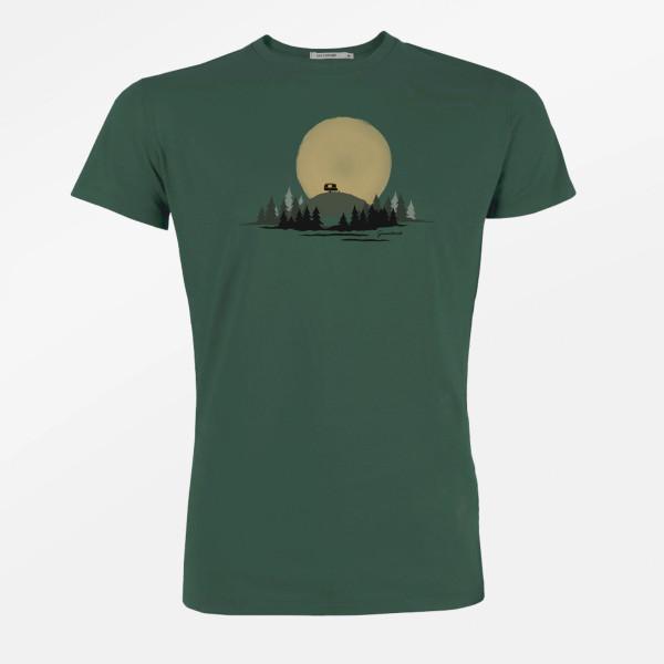 T-Shirt Herren Guide Nature Caravan Bottle Green L von Greenbomb