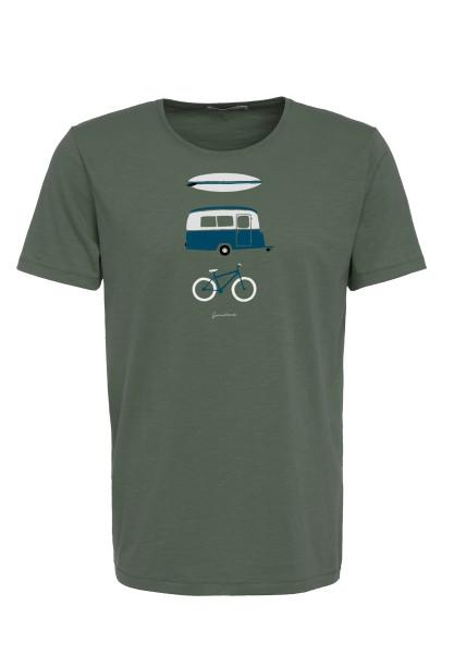 T-Shirt Herren Spice Nature Fun Olive XL von Greenbomb