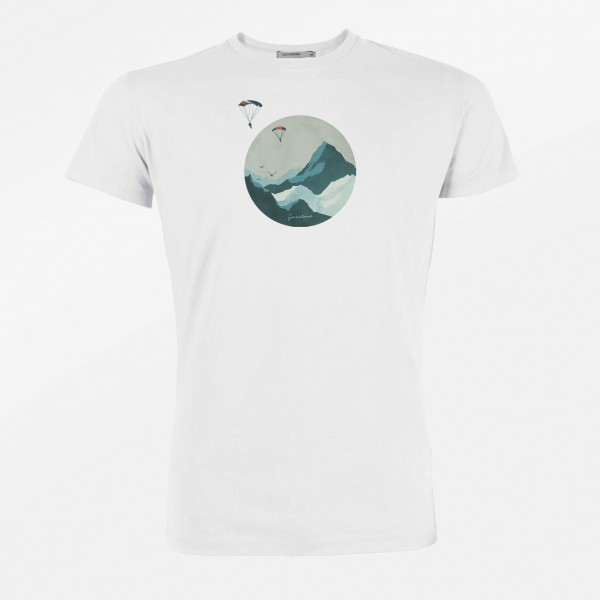 T-Shirt Herren Guide Nature Sky Diver White L von Greenbomb