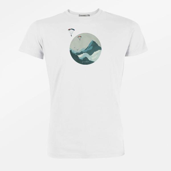 T-Shirt Herren Guide Nature Sky Diver White XL von Greenbomb