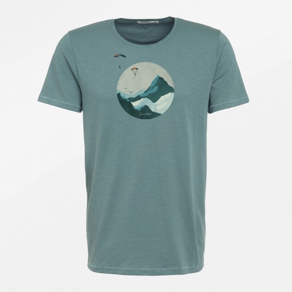 T-Shirt Herren Spice Nature Sky Diver Dirty Blue M von Greenbomb