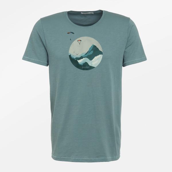T-Shirt Herren Spice Nature Sky Diver Dirty Blue S von Greenbomb