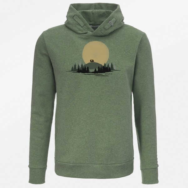 Kapuzenpulli Herren Star Nature Caravan Bottle Green L von Greenbomb