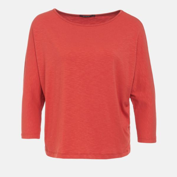 T-Shirt Smile Basic Papaya Orange L von Greenbomb