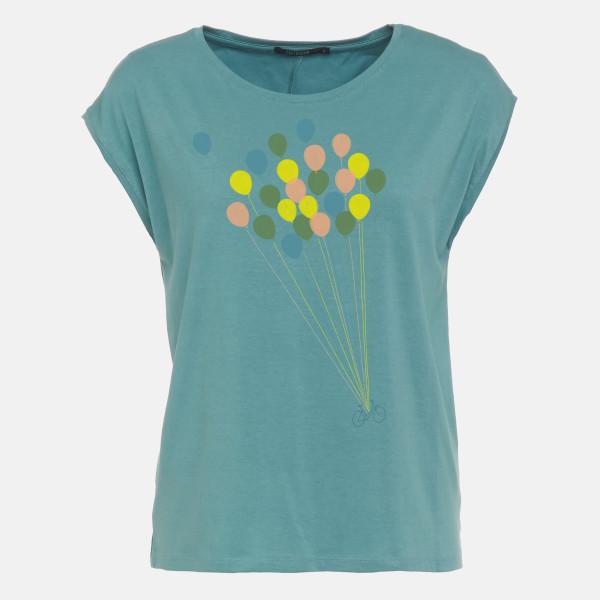 T-Shirt Tender Ballon Dirty Blue XS von Greenbomb