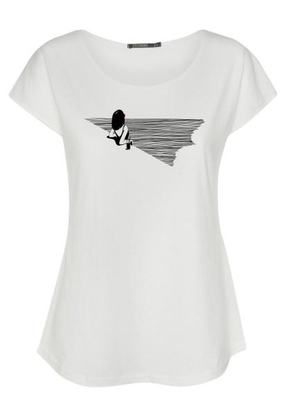 T-Shirt Cool Nature Beach Feeling White M von Greenbomb