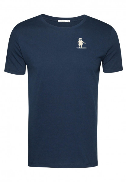 T-Shirt Herren Guide Animal Sloth Surfer Navy XL von Greenbomb