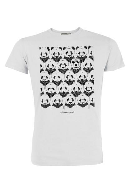 T-Shirt Herren Animal Climate Agent Weiß L von Greenbomb