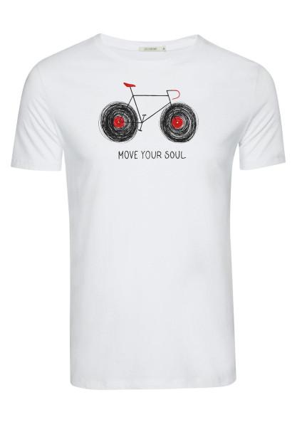 T-Shirt Herren Guide Lifestyle Bike Tape White XL von Greenbomb