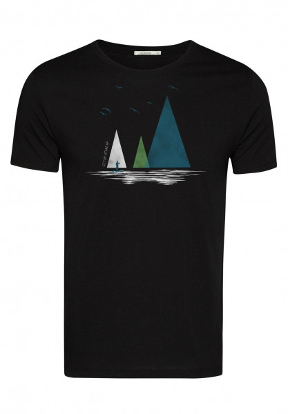 T-Shirt Herren Guide Nature Lake Black M von Greenbomb