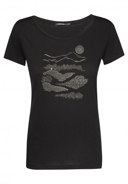T-Shirt Loves Nature Hut Forest Black S von Greenbomb