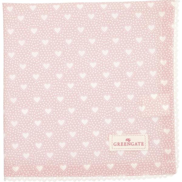 GreenGate Stoffserviette mit Spitze Penny Pale Pink