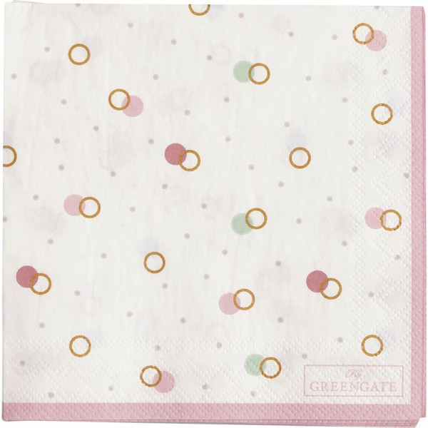 GreenGate Kleine Papierservietten Kylie White