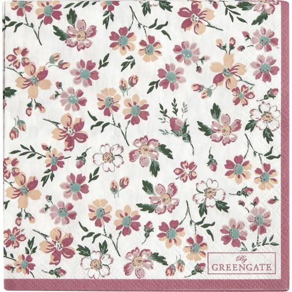Kleine Papierservietten Marie Dusty Rose von GreenGate