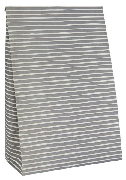 Buntfalttüte Grau Gestreift handgezeichnet von IB Laursen