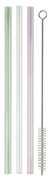 Strohhalm aus Glas, 3er Set von IB Laursen