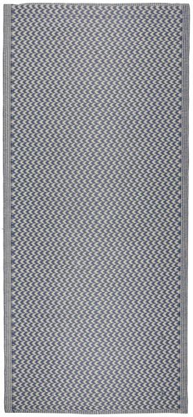 Teppich gemustert Recyclingplastik Blau von IB Laursen