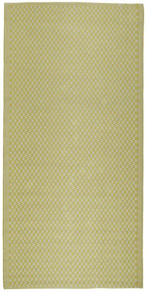 Teppich gemustert Recyclingplastik Gelb von IB Laursen