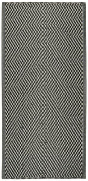 Teppich gemustert Recyclingplastik Schwarz von IB Laursen