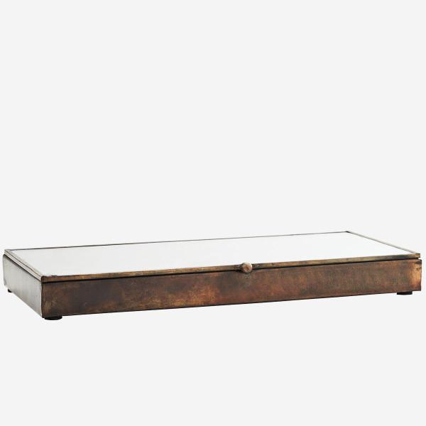 Glasbox rechteckig Antiklook von Madam Stoltz