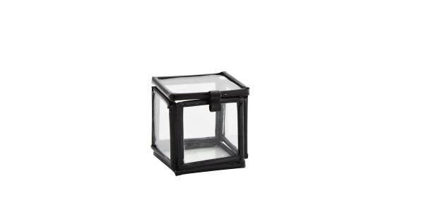 Madam Stoltz Kleine Glasbox Würfel Schwarz