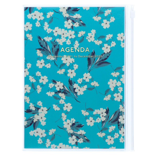 MARKS TOKYO EDGE A5 Kalender 2022 Flower Türkis