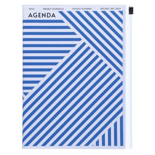 A5 Kalender 2022 Geometric Blau von MARKS TOKYO EDGE