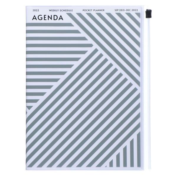 MARKS TOKYO EDGE A5 Kalender 2022 Geometric Grau
