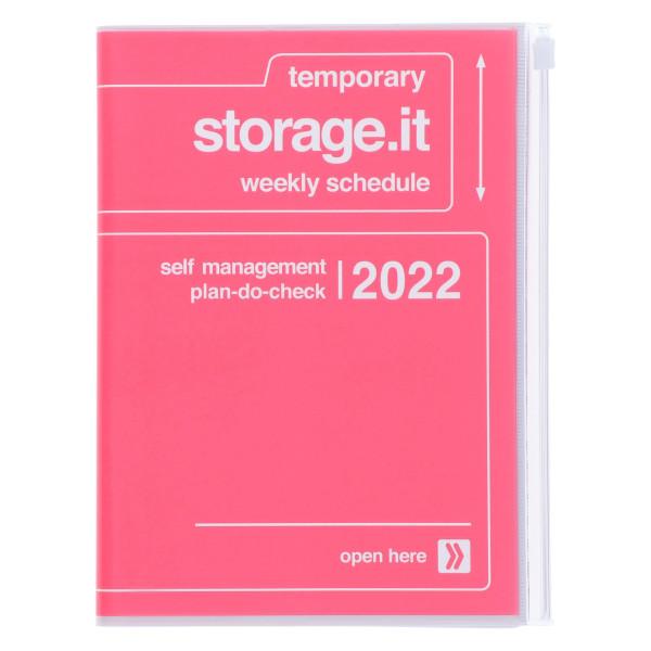MARKS TOKYO EDGE A5 Kalender 2022 STORAGE IT Pink