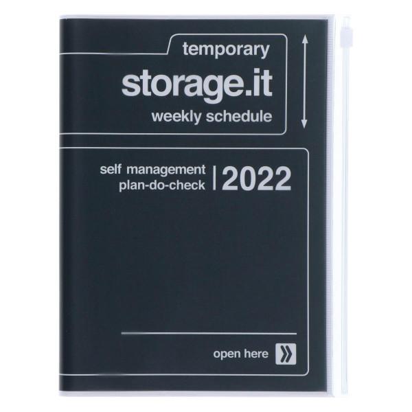 A5 Kalender 2022 STORAGE IT Schwarz von MARKS TOKYO EDGE