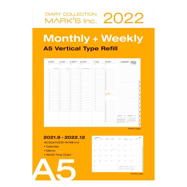MARKS TOKYO EDGE A5 Nachfüllheft für Kalender 2022