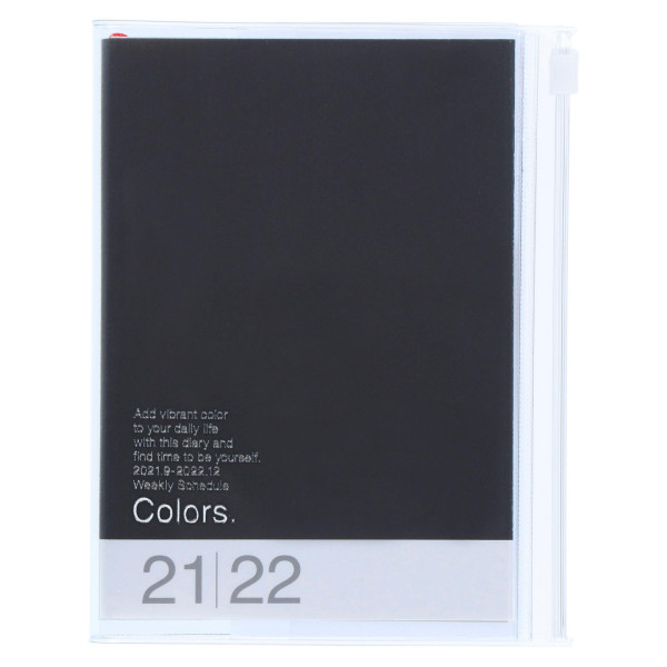 MARKS TOKYO EDGE A6 Kalender 2022 COLORS Schwarz