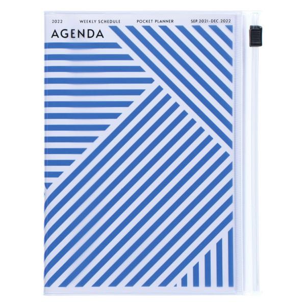 MARKS TOKYO EDGE A6 Kalender 2022 Geometric Blau
