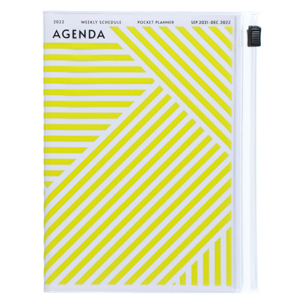 MARKS TOKYO EDGE A6 Kalender 2022 Geometric Gelb