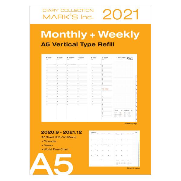 A5 Nachfüllheft für Kalender 2021 von MARKS TOKYO EDGE