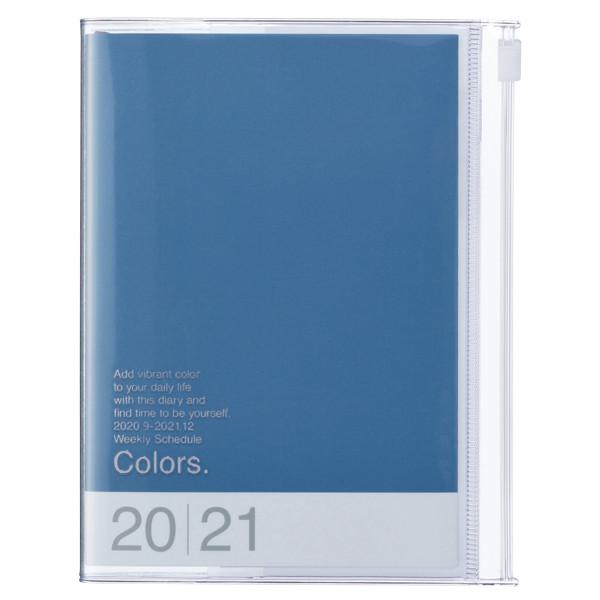 A6 Kalender 2021 COLORS, Blau von MARKS TOKYO EDGE