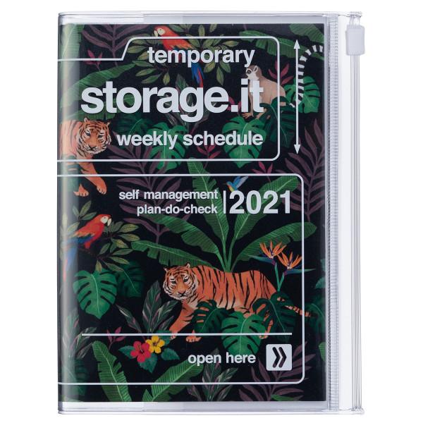 A6 Kalender 2021 STORAGE IT, Jungle Schwarz von MARK'S TOKYO EDGE