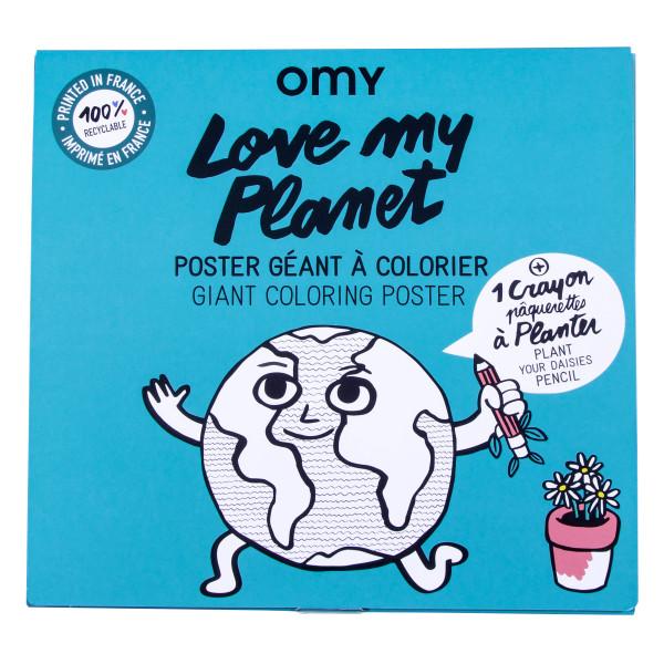 Großes Poster Love My Planet von Omy
