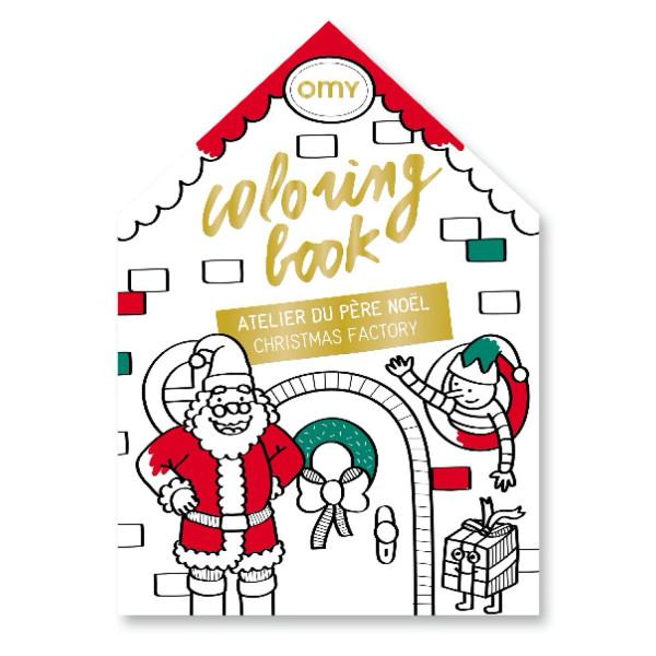 Ausmalbuch Christmas Factory von Omy