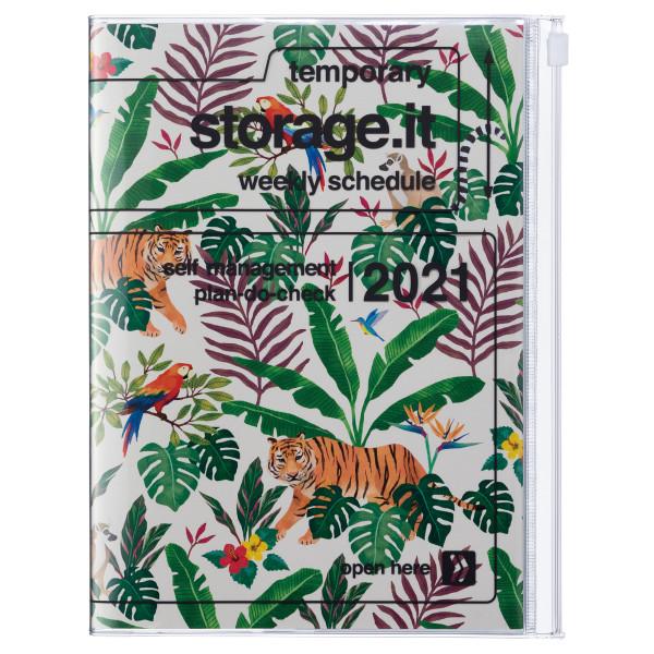 B6 Kalender 2021 STORAGE IT, Jungle Beige von MARKS TOKYO EDGE