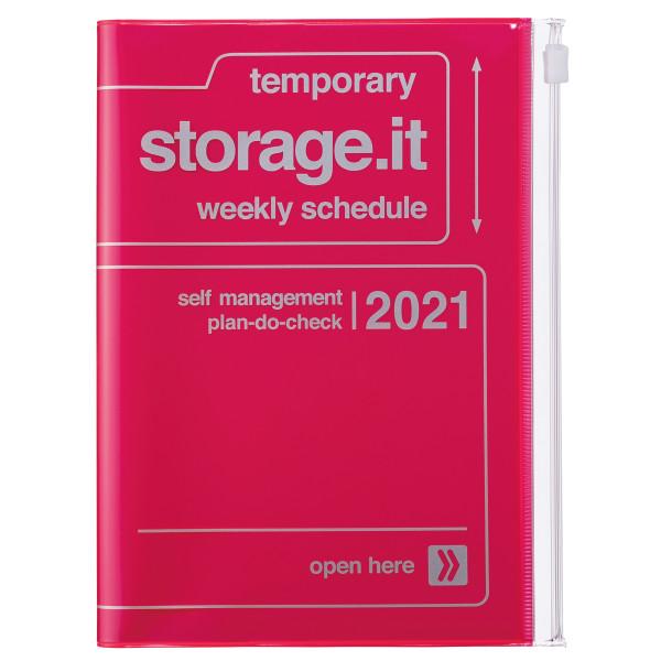 B6 Kalender 2021 STORAGE IT, Neon Pink von MARK'S TOKYO EDGE