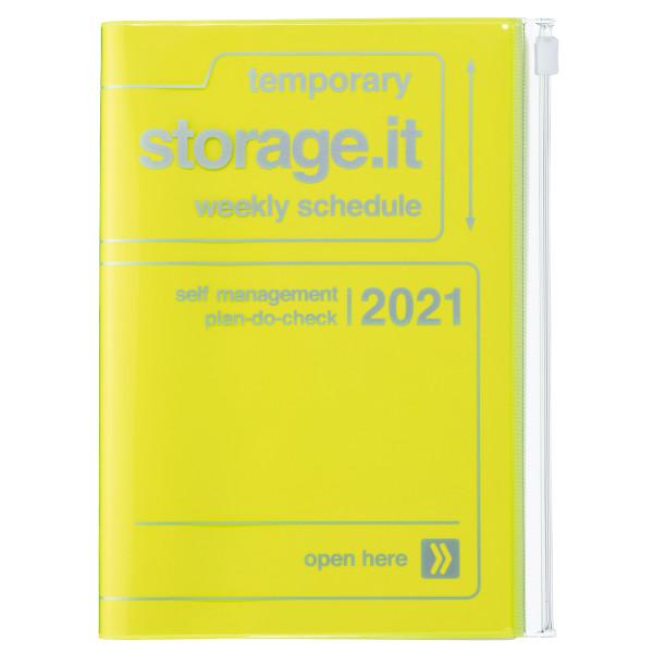 B6 Kalender 2021 STORAGE IT, Neon Yellow von MARK'S TOKYO EDGE