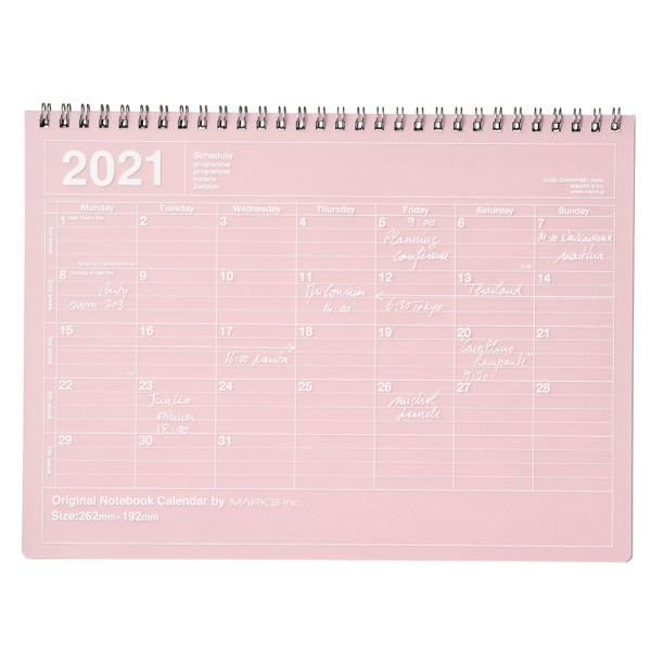 Notizbuch Kalender 2021 M, Pink von MARK'S TOKYO EDGE