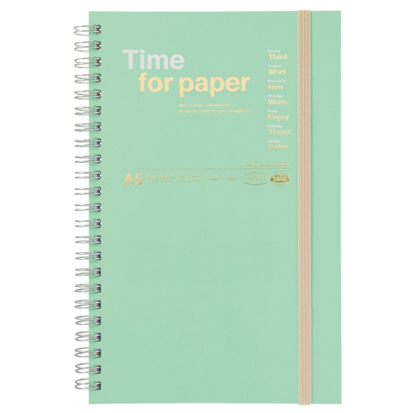 A5 Notizbuch Time for Paper Mint von MARK'S TOKYO EDGE