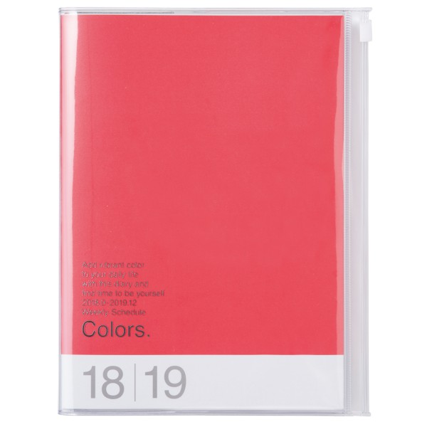 A5 Kalender 2019 COLORS, Red Pink