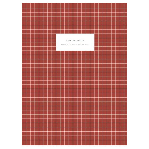 Notizbuch KARTOTEK L Check Brick Red