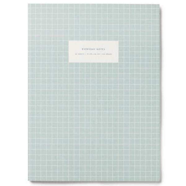 Notizbuch KARTOTEK L Check Light Blue von Kartotek