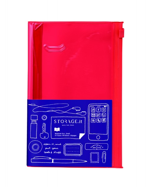 Notizbuch S STORAGE.IT Solid Red von MARKS TOKYO EDGE